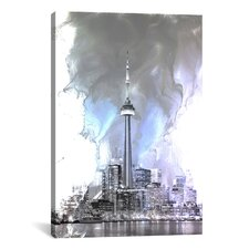 Toronto, Canada Tower Graphic Art on Canvas