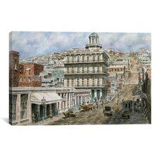 """San Francisco, Knob Hill 1854"" Canvas Wall Art by Stanton Manolakas"