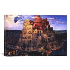 'The Tower of Babel' by Pieter Bruegel Painting Print on Canvas