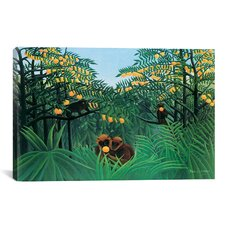 'The Tropics' by Henri Rousseau Painting Print on Canvas