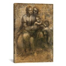 'The Virgin and Child with Saint Anne and Saint John the Baptist' by Leonardo Da Vinci Painting Print on Canvas