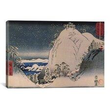 """Shrines in Snowy Mountains"" Canvas Wall Art by Utagawa Hiroshige l"