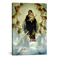 'The Virgin with Angels' by William-Adolphe Bouguereau Painting Print on Canvas