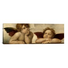'The Two Angels' by Raphael Painting Print on Canvas