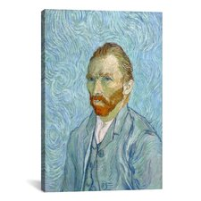 'Van Gogh Self Portrait St. Remy 1889' by Vincent Van Gogh Painting Print on Canvas