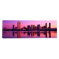 Panoramic California, San Diego, Twiilight Photographic Print on Canvas