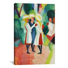 'Three Girls' by August Macke Painting Print on Canvas