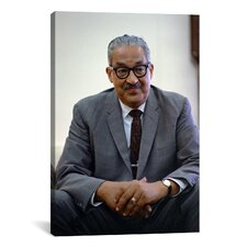 Political Thurgood Marshall Portrait Photographic Print on Canvas