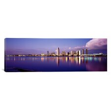 Panoramic California, San Diego, Financial District Photographic Print on Canvas