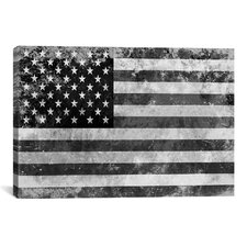 Flags U.S.A. Grunge Graphic Art on Canvas
