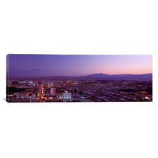 Panoramic Nevada, Las Vegas, Sunset Photographic Print on Canvas