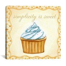 """""""Vanilla Cupcake"""" Canvas Wall Art by Jennifer Nilson"""