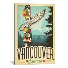 'Vancouver, Canada' by Anderson Design Group Vintage Advertisement on Canvas
