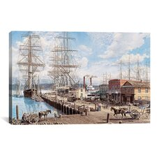 """Vallejo St. Wharf"" Canvas Wall Art by Stanton Manolakas"