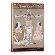 """Tibetan Anatomy: Vulnerable Points"" Canvas Wall Art by Romio Shrestha"