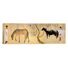"""""""Visiting a Hermit"""" Canvas Wall Art by Hashimoto Kansetsu"""