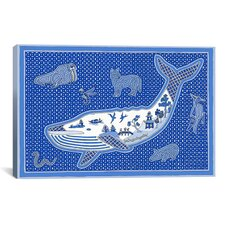 """W Whale"" Canvas Wall Art by Willow Bascom"
