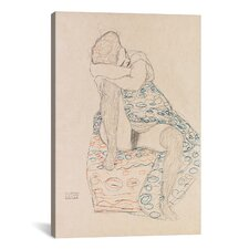 'Seated Figure with Gathered up Skirt' by Gustav Klimt Painting Print on Canvas