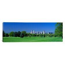 Panoramic Skyline in Daylight, Denver, Colorado Photographic Print on Canvas