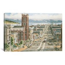 """Their Sunday Best: California and Dupont in San Francisco"" Canvas Wall Art by Stanton Manolakas"