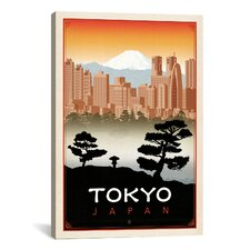 'Tokyo, Japan' by Anderson Design Group Vintage Advertisement on Canvas