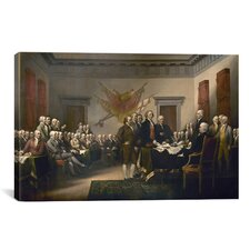 Political 'Signing of The Declaration of Independence' by John Trumbull Painting Print on Canvas