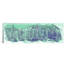Vancouver, Canada Skyline Panoramic Graphic Art on Canvas