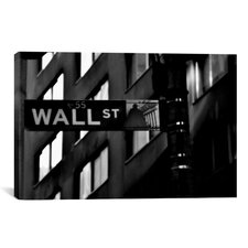 Political Wall Street Sign Photographic Print on Canvas