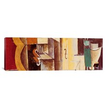 'Violin and Guitar (Panoramic)' by Pablo Picasso Painting Print on Canvas