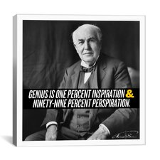 Thomas Edison Quote Canvas Wall Art