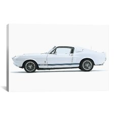 Cars and Motorcycles Shelby Mustang GT500 1967 Photographic Print on Canvas
