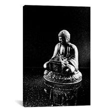 Stone Buddha Sculpture Photographic Print on Canvas
