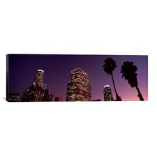 Panoramic 'Skyscrapers in a City, Los Angeles, California, 2010' Photographic Print on Canvas