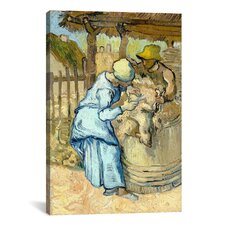 'The Sheep-Shearer (After Millet)' by Vincent Van Gogh Painting Print on Canvas