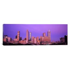 Panoramic Skyscrapers in a City, Atlanta, Georgia Photographic Print on Canvas