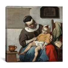 """The Sick Child"" Canvas Wall Art by Gabriel Metsu"