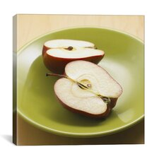 Sliced Apples Photographic Canvas Wall Art