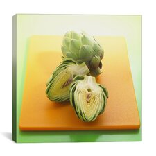 Sliced Artichokes on a Board Photographic Canvas Wall Art