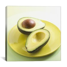 Sliced Avocado on a Plate Photographic Canvas Wall Art