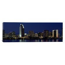 Panoramic Skyscrapers in a City, San Diego, California Photographic Print on Canvas
