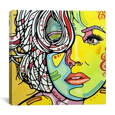 'Strawberry Blonde' by Dean Russo Graphic Art on Canvas