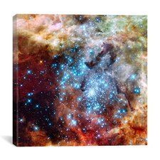 Star Cluster on Collision Course (Hubble Space Telescope) Canvas Wall Art