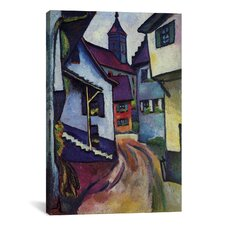 'Street with Church in Kandern' by August Macke Painting Print on Canvas