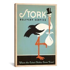 Anderson Design Group Stork Delivery Service Canvas Wall Art