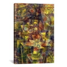'Still Life with Autumn Flowers (Herbstblumen Stilleben) 1925' by Paul Klee Graphic Art on Canvas