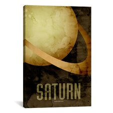 'The Planet Saturn' by Michael Thompsett Painting Print on Canvas