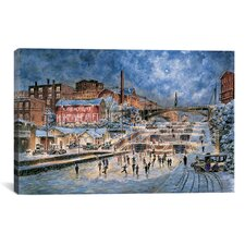 """""""The Skating Party, Lockport New York , Ca 1905"""" Canvas Wall Art by Stanton Manolakas"""