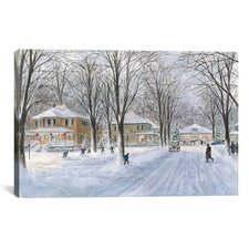 """The Snowball Fight"" Canvas Wall Art by Stanton Manolakas"