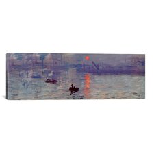 'Sunrise Impression' (Panoramic) by Claude Monet Painting Print on Canvas