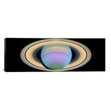Saturn's Rings in Ultraviolet Light Canvas Wall Art